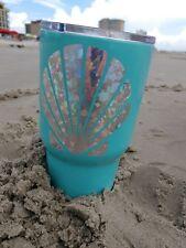 Seashell Silver Holographic Vinyl Car Decal Tumblers Mug cup decal 3.5 H Mosaic.