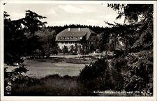 Rothaus Schwarzwald s/w Postkarte ~1940/50 Blick auf das Kurhaus Rothaus im Wald