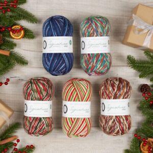 SIGNATURE 4 PLY (100G) – CHRISTMAS 100% BRITISH (75% Wool – 25% Nylon) WYS