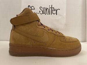 Nike Air Force 1 High LV8 3 GS Wheat Gum Light Brown CK0262 700 Size 5Y