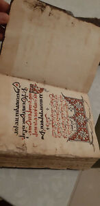 Antique Egyptian Christianity Coptic Holy Bible Book