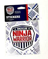 American Ninja Warrior Official Shield Sticker - 4pk
