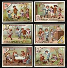 Tobacco Or Sweets ? Naughty Children's Dilemma Vintage Liebig Card Set 1897 Pipe