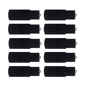 Bulk Lot 50/100PCS 128MB Black Swivel USB Flash Drive Memory Stick Pen Stroage