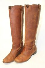 Frye Womens 10 B Cara Tall Oiled Suede Leather Pull On Riding Boots 78328 qp