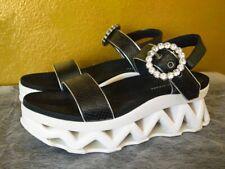 Marc by Marc Jacobs Ninja Platform Sandals Womens 39 8.5 9 Sporty Black White