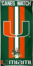 "Miami Hurricanes 'Canes Watch 30"" x 60"" Fiber Reactive Beach Towel"