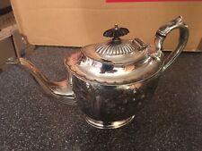 Vintage 1800's Silver Plated Teapot Ornate Albert J Beardshaw Victorian Tea Pot