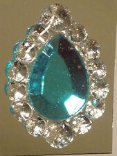 Edible Sugar Brooch Wedding Cake Diamond Jewel Gem Candy Decoration Teardrop