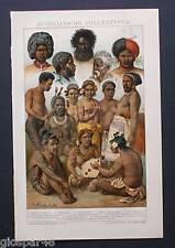 1894_ANTICA CROMOLITOGRAFIA:POPOLAZIONE AUSTRALIANA..