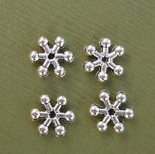 Tibetan Silver Spacer Beads Snowflake Antique Silver- 50pcs.