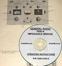 General Radio 1608 A Impedance Bridge Instruction Manual