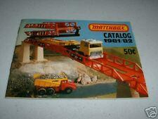 Matchbox 1981/82 Catalog Catalogue
