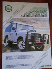LAND ROVER SAFARI ACCESSORI 2 BROCHURE c1980's