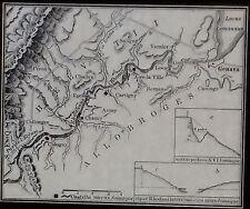 Map of the Rhone River District,Geneva/Pas de L'Ecluse,Magic Lantern Glass Slide