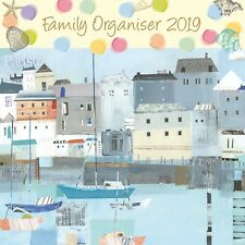By the Sea Family Organiser 2019 Square Wall Calendar