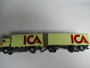 Wiking 1:87 DAF Suitcase Trailer Truck Ica