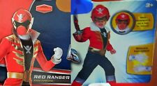 *New* Deluxe Child Costume-Saban's Red Power Ranger-Size 3+ with Accessories