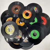 "Vinyl Records Lot Of 25 45 rpm 7"" Jukebox Pop Rock R&B Country Arts Crafts"