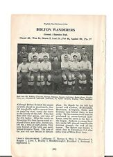 Team Pic from 1948-49 Football Annual - BOLTON WANDERERS