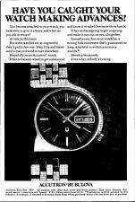Vintage Bulova Accutron Watch Print Ad