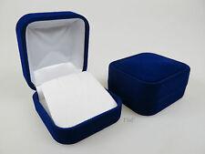 Velvet Earring Box Luxury Blue Flock Jewellery Display Case