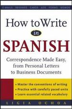 How to Write in Spanish : Correspondence Made Easy-ExLibrary