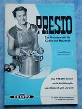 Presto Schnellgartopf Kochen Einkochen Backen Rezepte Grauding Fellbach 1964