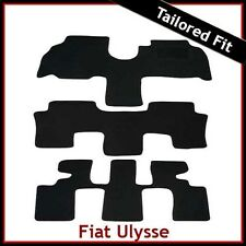 FIAT ULYSSE Mk2 2002-2011 Tailored Carpet Car Floor Mats BLACK