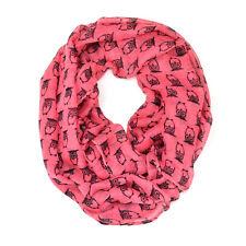 Cute Owl Animal Print Block Circle Loop Wrap Infinity Scarf Multi Color Soft