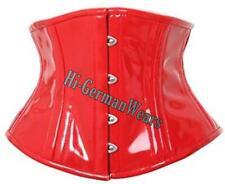 Heavy duty Double Steel Boned under Bust waist Training red PVC corset hi-29