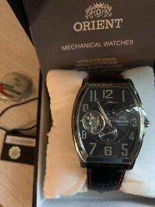 Orient Black Open Heart Power Reserve Automatic Watch CFHAA002B0