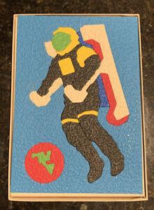 Lauri Crepe Rubber Puzzles—Space Walk (2167) & Space Ship (2156), Vintage