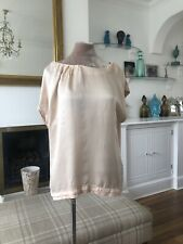 Mint Velvet Pretty Silk Front peachy/Pink Top Size 16
