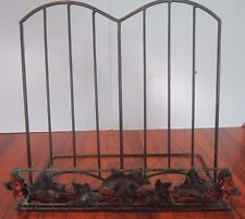 Metal BOOK HOLDER! Recipe Cookbook Stand! METAL BOOK Holder ANTIQUED GREEN IVY