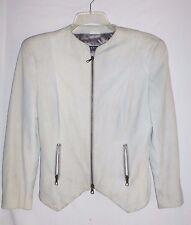 $4800 Giorgio Armani 2-4 Small Deer Nubuck Suede Leather  zip-up Jacket ITALY 40
