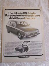 CITROEN GS ESTATE 1972 POSTER ADVERT READY FRAME A4 C