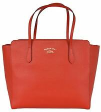 $1,100 Gucci Red Leather Swing Small Tote Satchel Bag 354408