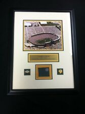 Green Bay Packers Game Used Metal from Lambeau Field Stadium Framed Display-NFL