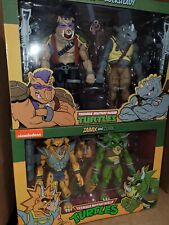 NECA TMNT Zarax and Zork 2 Pack And Triceraton And Rocksteady and Bebop