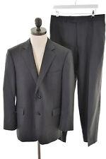 Austin Reed Mens 2 Piece Suit Size 42 Large W34 L29 Black Herringbone Wool