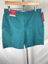 "New MERONA Mens Stretch 8"" Casual Flat Front Club Shorts Size 30 (U)"