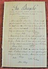 FRA DIAVOLO MISE EN SCÈNE d'origine Rare Opéra AUBER manuscrit
