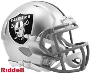Las Vegas Raiders Speed Riddell Football Mini Helmet New in box