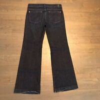 7 Seven For All Mankind Womens Crop Dojo Flare Stretch Jeans Size 28 Dark Wash