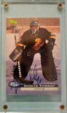 Jocelyn Thibault Quebec Nordiques 1995 Classic Image Rookie Card Autograph /1185