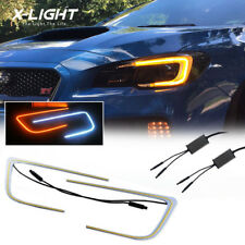 C-Light For Subaru WRX/STI Legacy 2015-2017 LED Angel Eye DRL with turning light