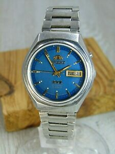 Orient Blue sky Crystal 3 star vintage automatic 21 jewels Japan mens watch