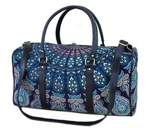 100% Cotton Mandala Indian Large Duffel Bag Throw Ethnic Travel Luggage Bag New