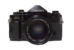 Canon A-1 35mm Film SLR Camera with 50mm f1.4 Lens